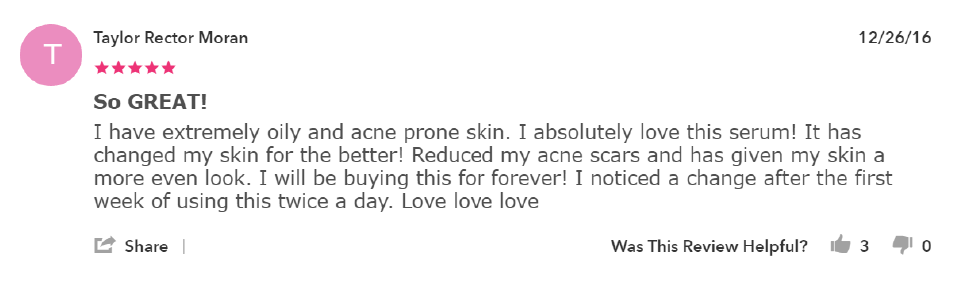 What a Yotpo review looks like