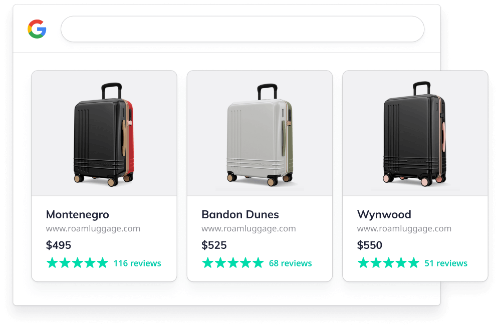 Results for ROAM Luggage on Google Shopping