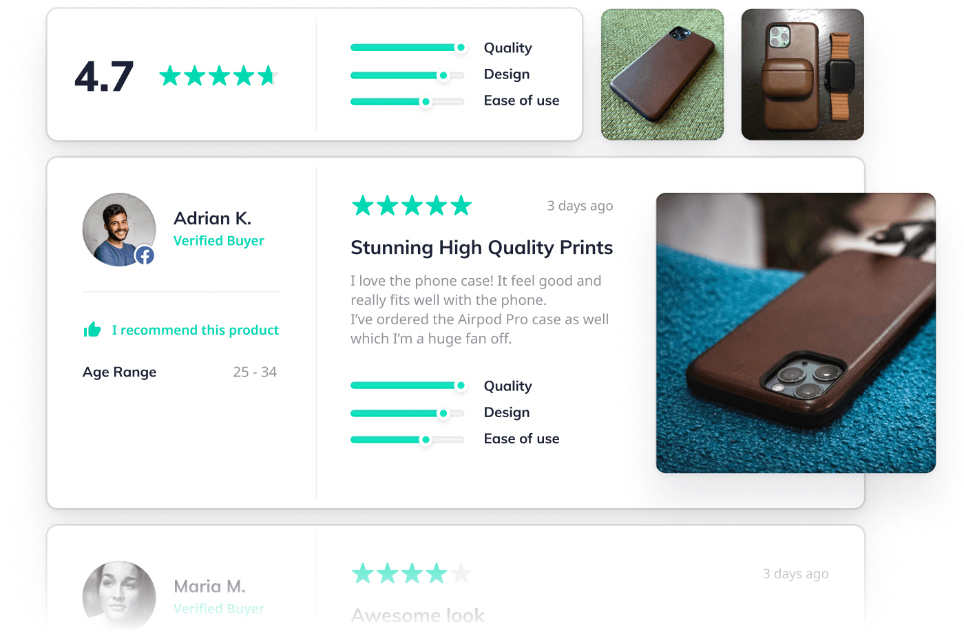PDP page with reviews widget for Nomad