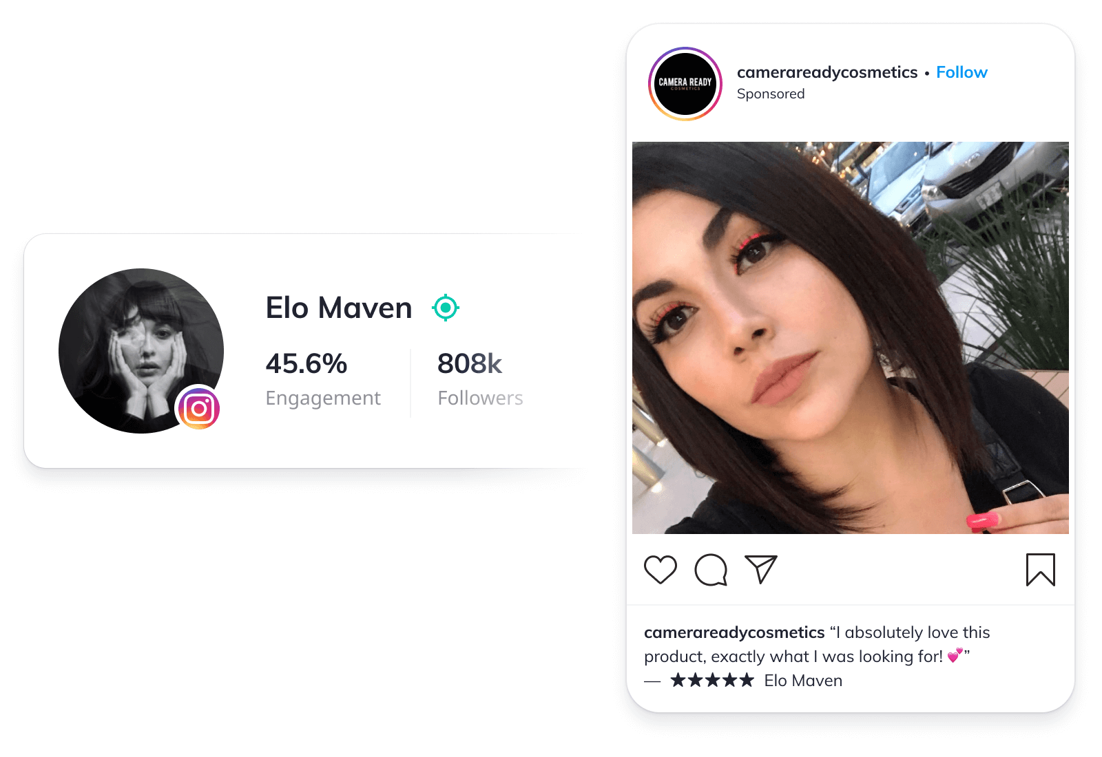 Sponsored post of influencer