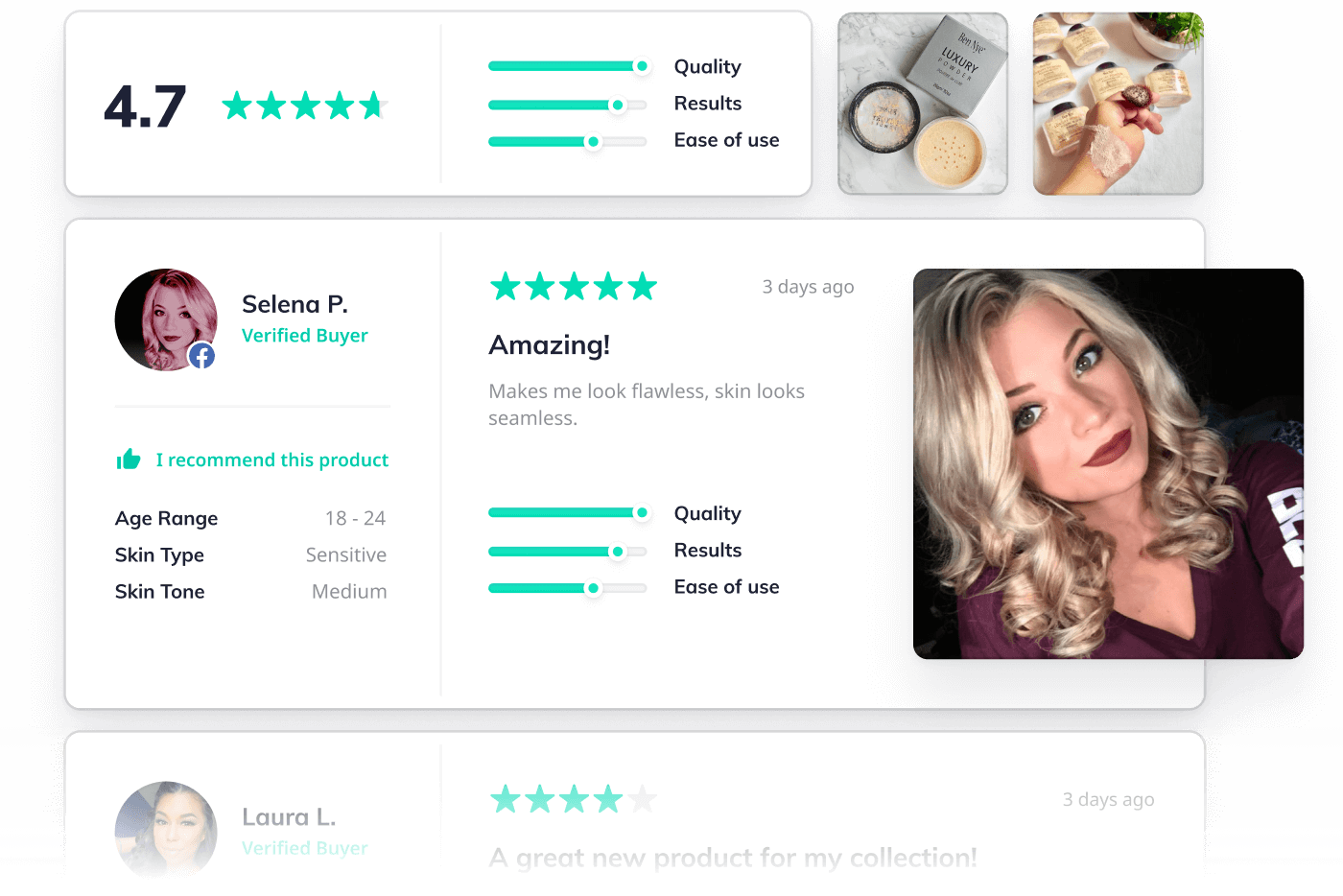 Product reviews widget